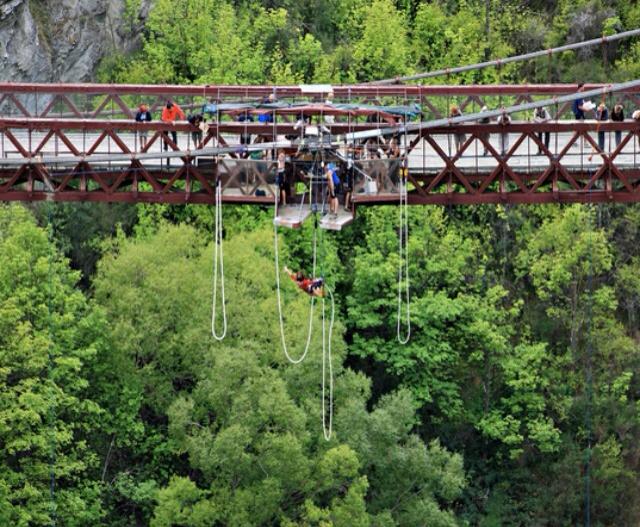 AJ Hackett Kawarau Suspension Bridge Bungy Jump Queenstown New Zealand #travel #NewZealand #photography #NZ #fun #bungy #freefall