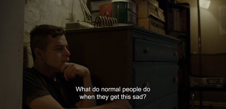 """What do normal people do when they get this sad?"" """