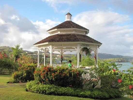 Where we said our vows :-) Wedding Gazebo @ Morgan Bay St Lucia