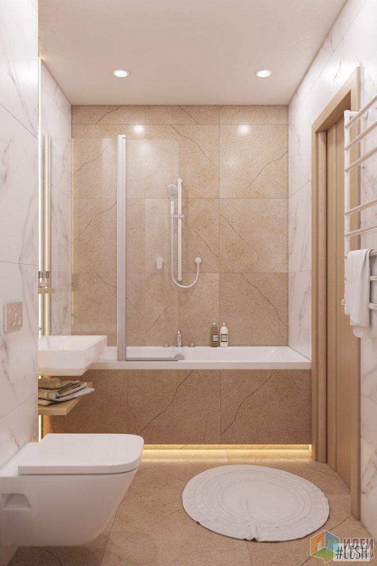 В небольшой ванной комнате расположилась ванная совмещенная с душем. Вместо неудобной, вечно прилипающей ко всему и рвущейся шторы здесь установлен прозрачный экран. За раковиной – зеркало от пола до потолка, подсвеченное вертикально с двух сторон.
