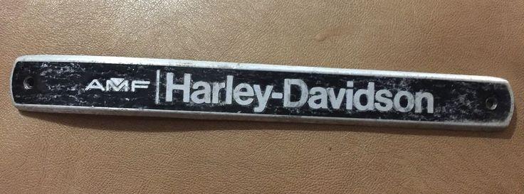 Vintage AMF Harley Davidson Tank Emblem  | eBay