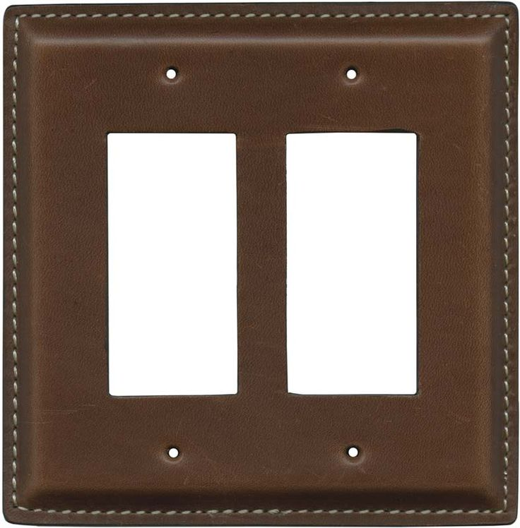 Brown Oiled Leather Light Switch Plates, Outlet Covers, Wallplates