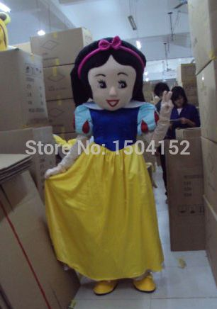 ==> [Free Shipping] Buy Best New Snow White Mascot Costume Suit Fancy Dress Cartoon Clothing Adult Size free Shipping Online with LOWEST Price | 32227077017