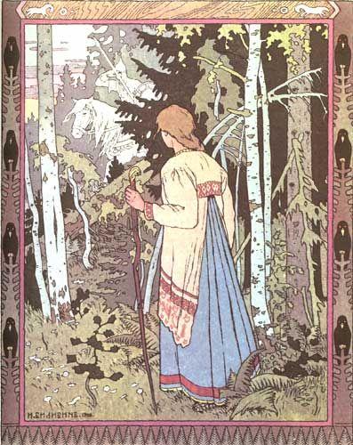 Vasilissa the Beautiful - Ivan Bilibin