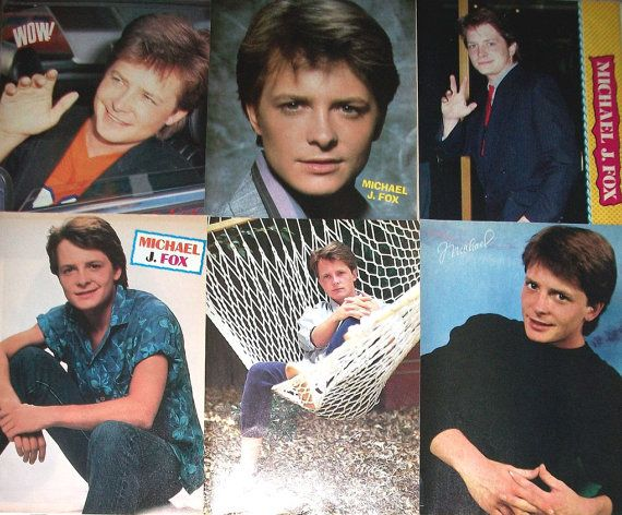 MICHAEL J FOX - Family Ties, Back To The Future, Spin City - Color Pin-Ups from 1988 - Batch 2