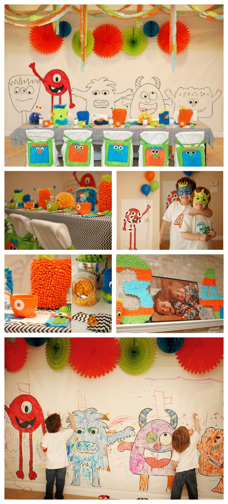 Little Monster Birthday Party- frosted cheerios for eyes