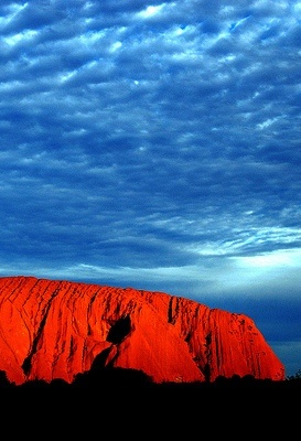Ayers Rock, Uluru,Australia.....it was gorgeous there! (this isn't my pic though)