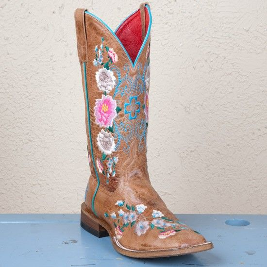 Macie Bean Ladies' Square Toe Honey Floral Boots ***These are ALMOST trade-my-first-born worthy.