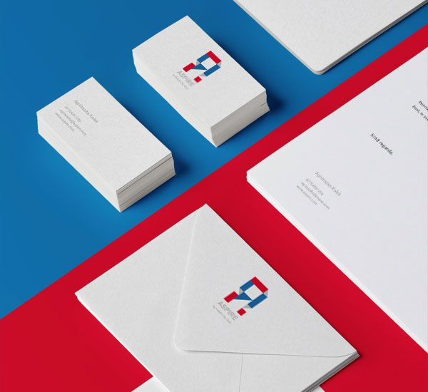 Close up of the stationery and the logo.