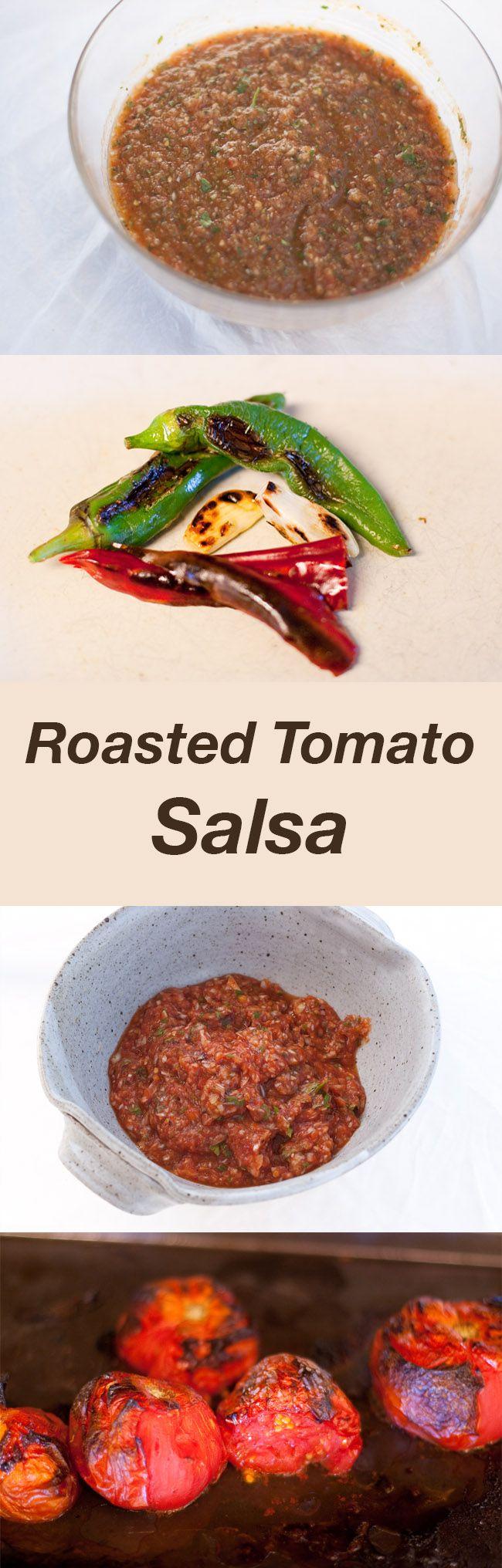 Roasted Tomato Salsa on Pinterest | Roasted salsa recipe, Roasted ...