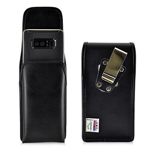 hot sale online d1a82 289b7 Samsung Note 8 Belt Case Black Leather Pouch with Heavy Duty Belt ...