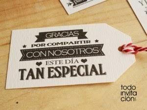 Etiquetas imprimibles para los regalos de tus invitados