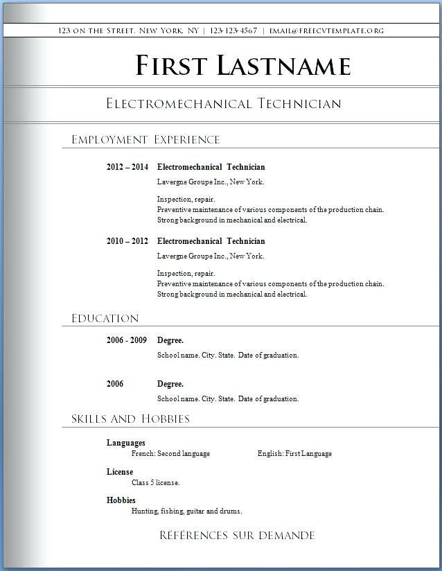 Download Resume Free Download Free Professional Resume Templates