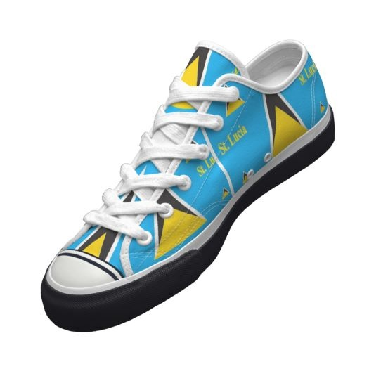 St.lucian flag on shoe!!! LOVE IT!