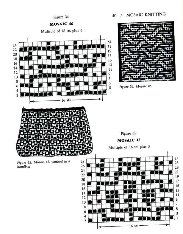 Mosaic Knitting Barbara G. Walker (Lenivii gakkard) Mosaic Knitting Barbara G. Walker (Lenivii gakkard) #45