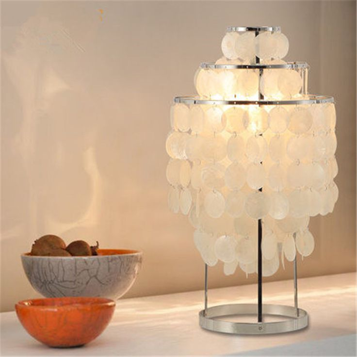 Nice Modern Nordic Natural Shells Table Lamp Creative Living Room Hotel Bedside  Lamp Studyroom Decoration Home Lighting Table Lights
