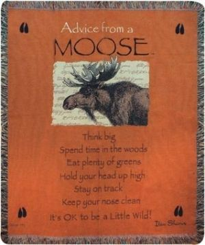 Moose Moose Moose by lea: Blanket, Moo 50X60, Moo Advice, Moo Moo, Cabins Decor, Moo Throw, Moose, Moo Tapestries, Good Advice