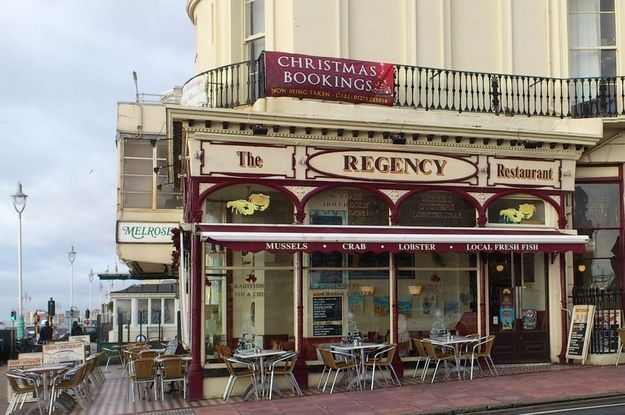 Enjoy some fresh fish and chips at The Regency.You're by the seaside, so of course you want to sample some nice fresh fish. Head down to The Regency, which is still one of the oldest and most popular seafront restaurants. You can pick from traditional fish and chips, or try their mussels. | 51 Things You Simply Must Do In Brighton