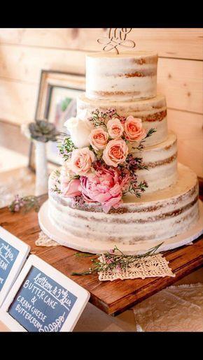 My beautiful semi-naked wedding cake