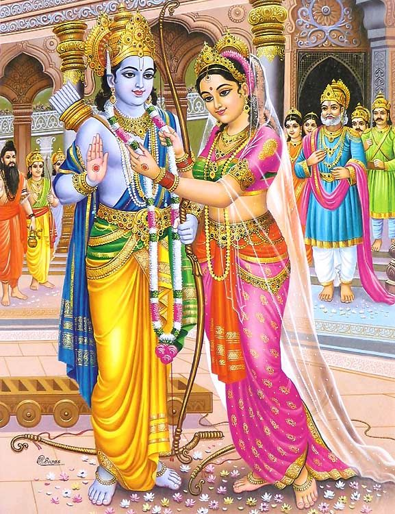Ram is the 7th incarnation of Vishnu and the central figure of the Ramayan epic. The Ramayan is the very soul of India.