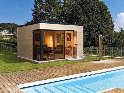Weka Gartenhaus Designhaus wekaLine 412 Gr.1, natur 380 x 300