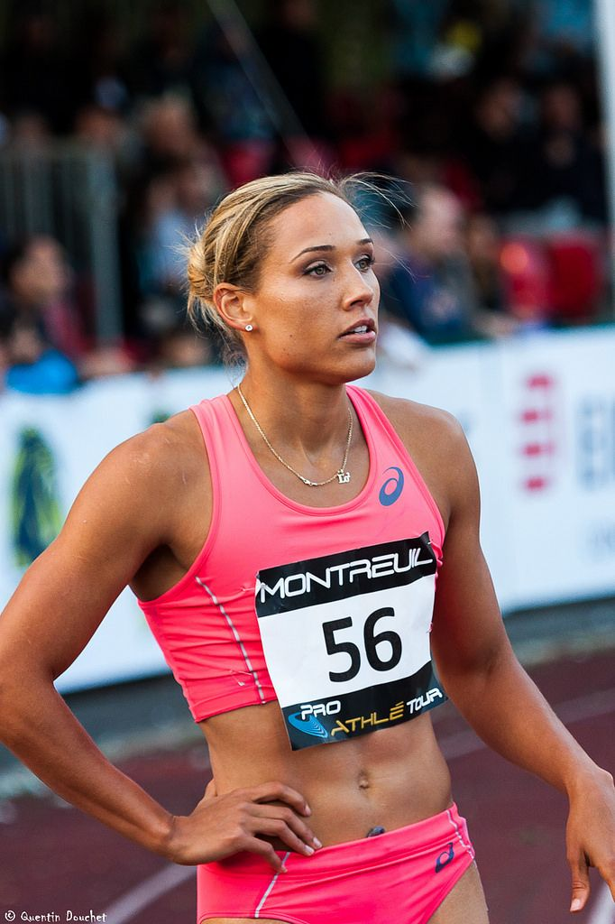 "https://flic.kr/p/tDWzc8 | Lolo Jones (USA) - Meeting Montreuil 2015 | Avant le départ du 100m haies (3ème en 12""93).  Meeting d'athlétisme de Montreuil 2015 - Stade Jean Delbert, Montreuil, Seine-Saint-Denis, Ile-de-France, France.  (06/2015) © Quentin Douchet."