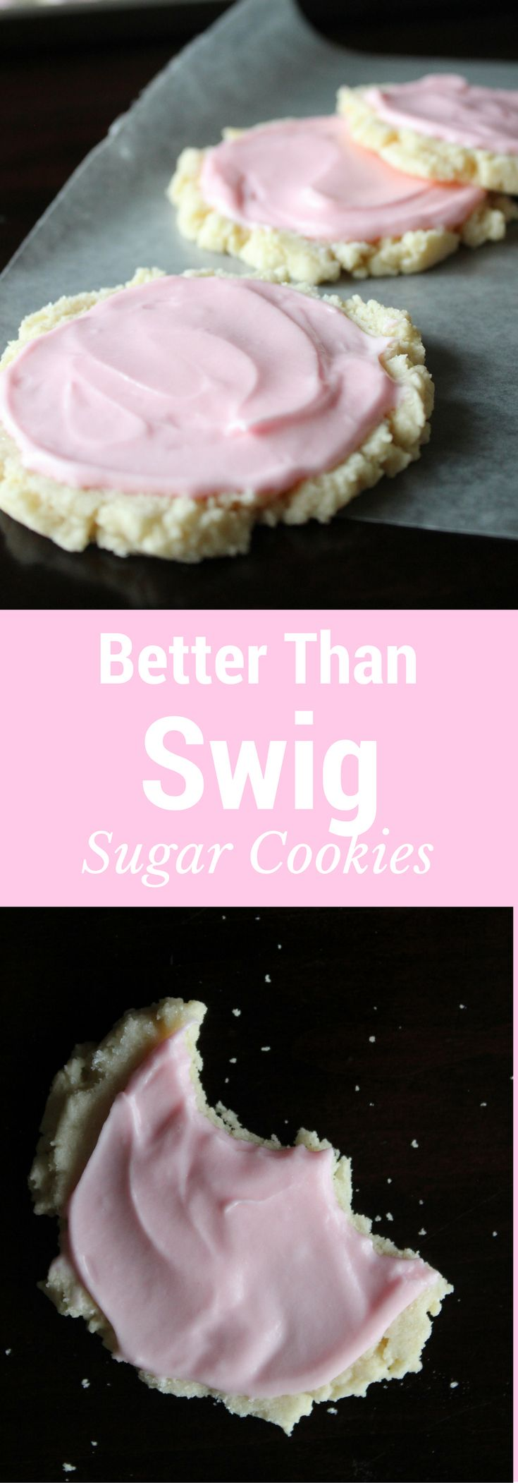 Copycat Swig Sugar Cookies - these are the B.E.S.T sugar cookies EVER. Hands down.