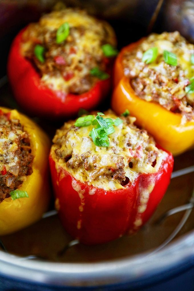 Instant Pot Stuffed Peppers In 2020 Stuffed Peppers Stuffed Bell Peppers Instant Pot Dinner Recipes