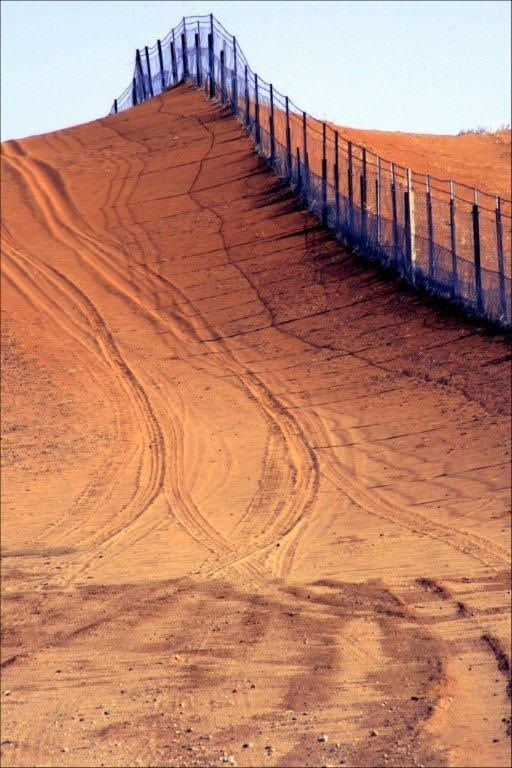Rabbit proof fence, at Camerons Corner, Where Queensland, NSW and South Australia all meet.