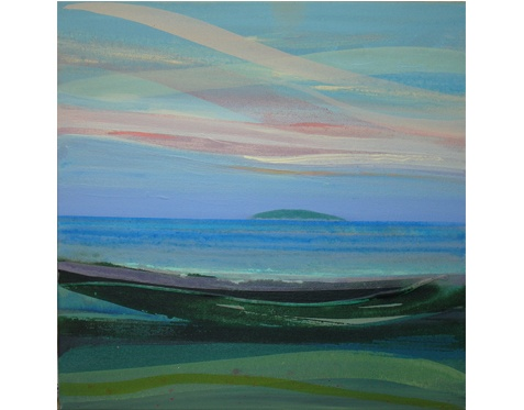 Hestan Island  by Kevan McGinty.    ACRYLIC PAINTING ON CANVAS    Dimensions: 74.7 x 74.7cm framed / 50.8 x 50.8 unframed.    the beautiful painting itself says it all!    Available from Spring Fling webshop. £550.00