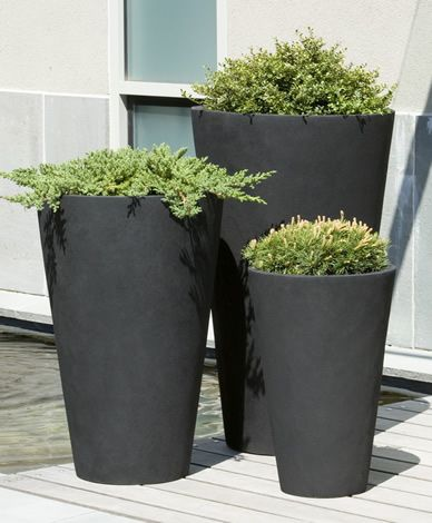 Campania International Vallarella Tall Planter   Set Of 3   Planters At  Hayneedle
