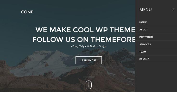 Onepage Creative WordPress Theme - Cone