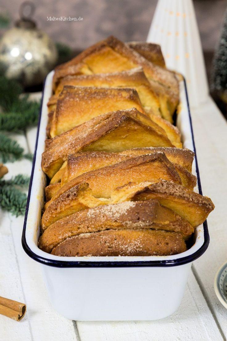 Rezept für ein weihnachtliches Zupfbrot mit Zimt und Zucker und einer leckeren Mascarponecreme mit Ahornsirup.