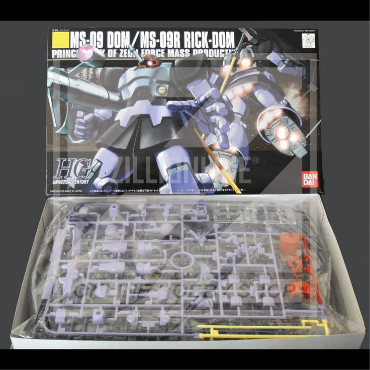 [MODEL-KIT] HGUC 1/144 - MS-09 DOM / MS-09R RICK-DOM. Item Size/Weight : 31 x 19 x 8 cm / 383g. (*ITEM SIZE & WEIGHT BEFORE PACKAGED). Condition: MINT / NEW & SEALED RUNNER. Made by BANDAI.