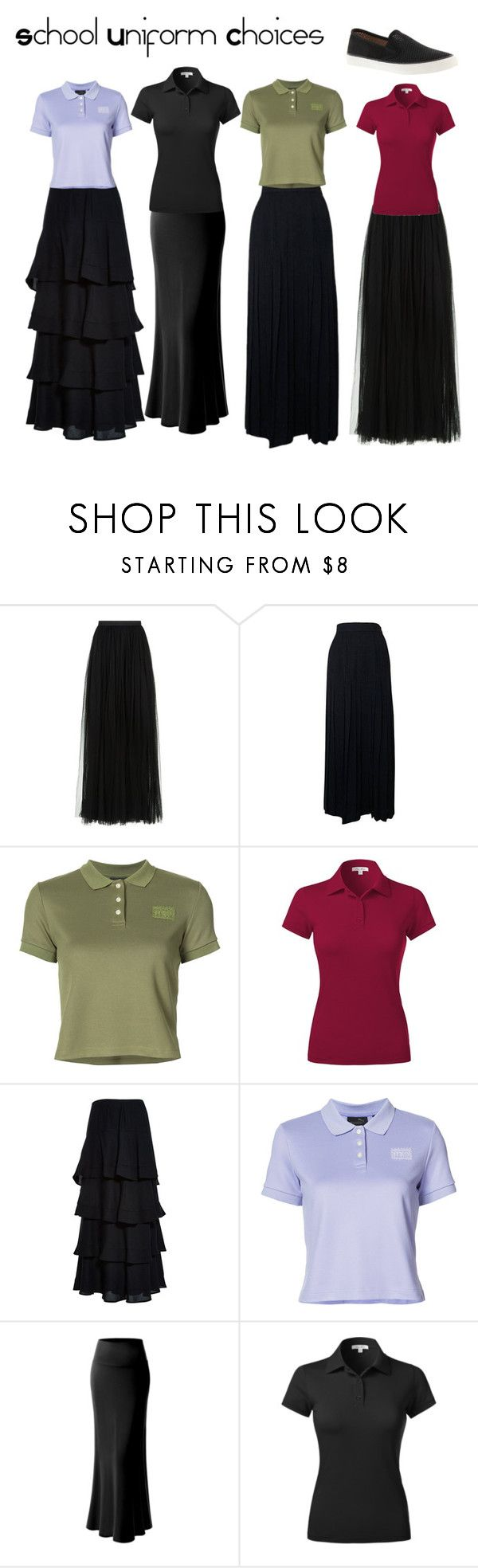 """""""School Uniform Choices"""" by ohmygshsomeoneactually on Polyvore featuring Needle & Thread, Chanel, Puma, Kenzo and Sperry"""
