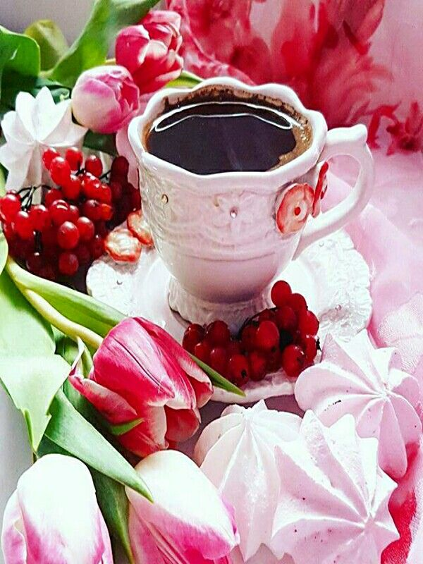 Открытки с добрым утром цветы клубника и шоколад, овчарками
