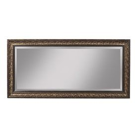 Shop Sandberg Furniture Andorra 32-in x 66-in Brown Beveled Rectangle Framed Contemporary Wall Mirror at Lowes.com