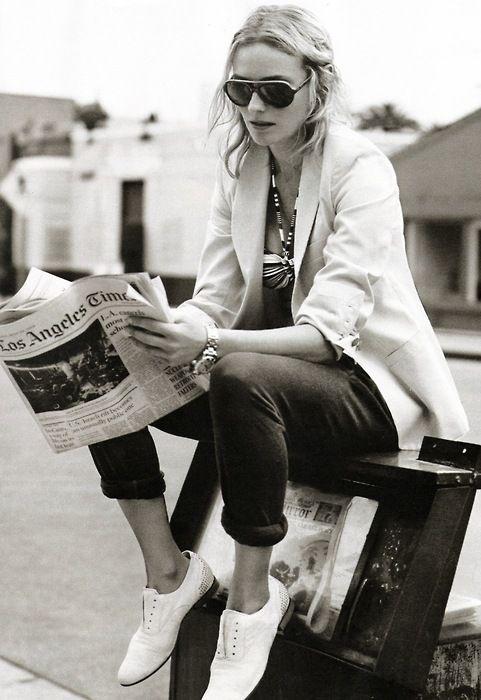 preppy chic. Diane Kruger.