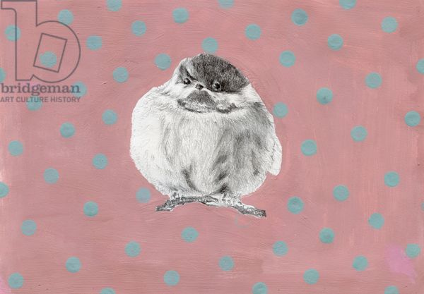 CUTE, CUTE, and Even MORE Cute! Chubby little bundle, 2014, (gouache and pencil on paper), Moniz Charalambous, Nancy / Private Collection / Bridgeman Images