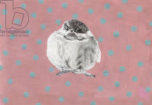 CUTE, CUTE, and Even MORE Cute! Chubby little bundle, 2014, (gouache and pencil on paper), Moniz Charalambous, Nancy / Private Collection / Bridgeman Images