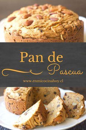 Pan de Pascua, con manjar. Receta chilena.