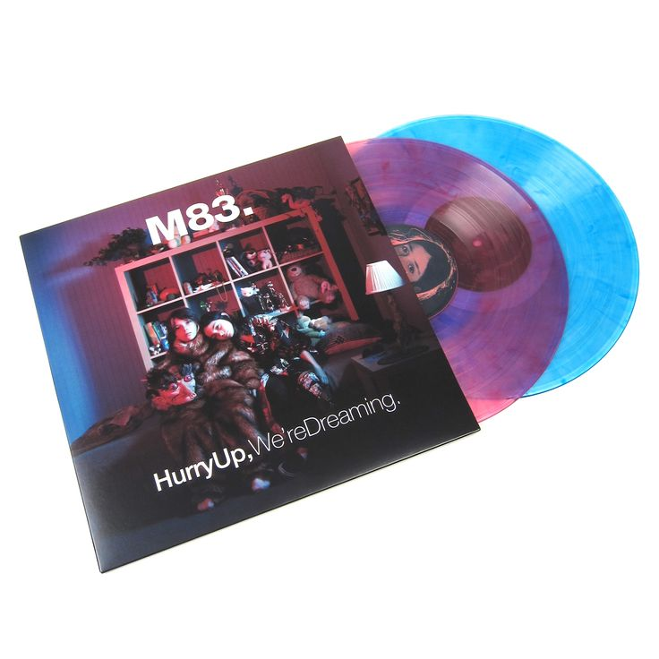 """M83's grandiose double album, Hurry Up, We're Dreaming repressed on double colored vinyl! The lead single, """"Midnight City,"""" immediately stands out, with the synth-heavy and upbeat instrumental laying"""