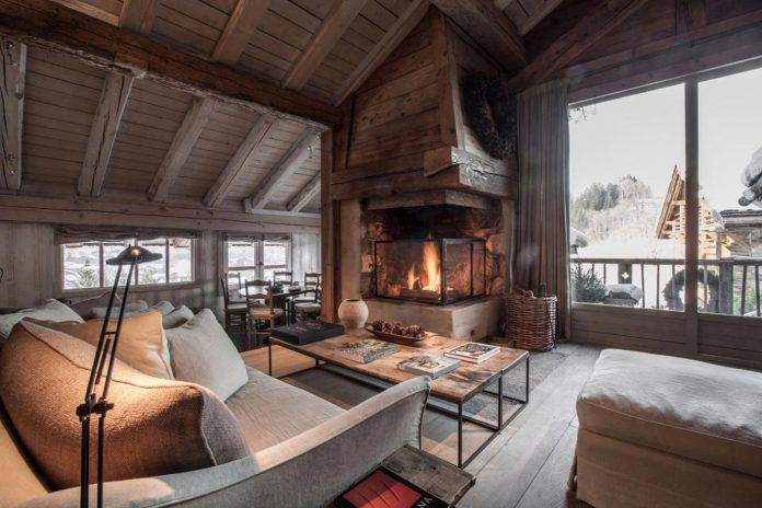 Renovated mountain resort using a rustic but inviting decorative style in Megève, France - CAANdesign   Architecture and home design blog