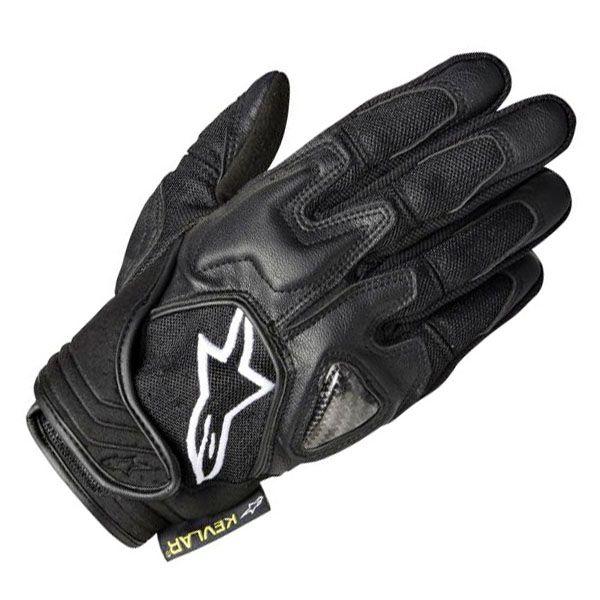 Alpinestars Scheme Kevlar Gloves - Black with White Logo   Infinity Motorcycles