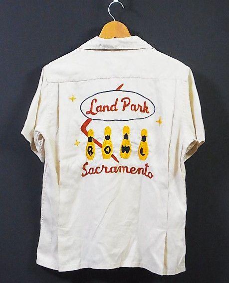 東洋 KING LOUIE 刺繍 ボーリングシャツ S スタイルアイズ_画像1