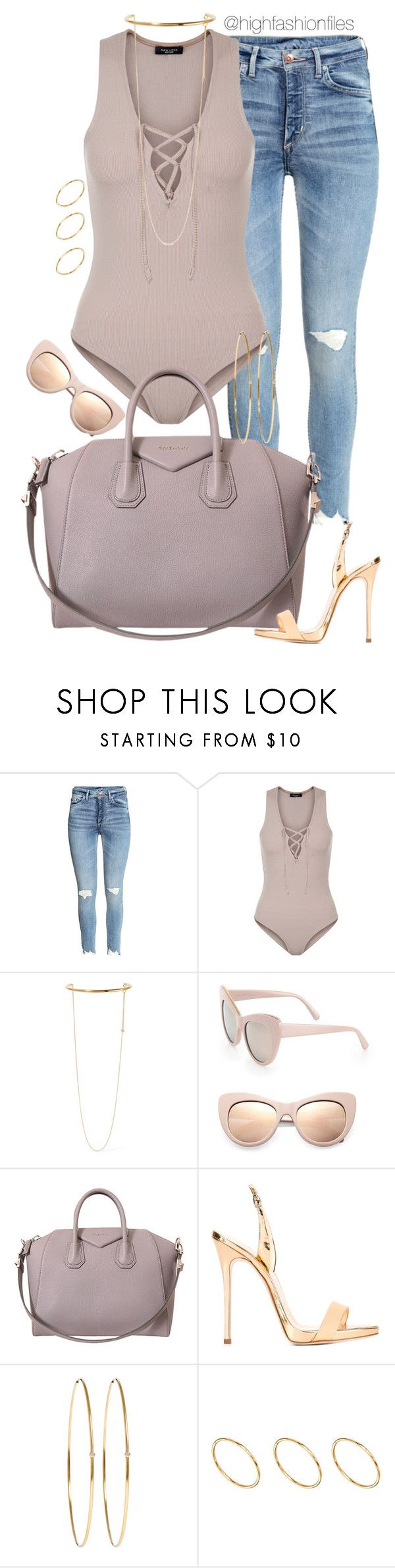 """Untitled #2480"" by highfashionfiles ❤ liked on Polyvore featuring New Look, STELLA McCARTNEY, Givenchy, Giuseppe Zanotti, Jennifer Meyer Jewelry and ASOS"