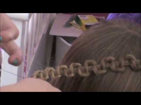 The EASIEST snake braid ever....you have to try it....this is a young girl putting a snake braid in her sister's hair.  I watched it and then braided my daughter's hair the next two days using the snake braid.  SUPER EASY...if you can braid a regular braid, you can do this.