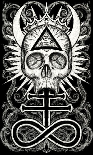 Occult Skull loose canvas art print by Shayne of the Dead on Etsy, $40.00