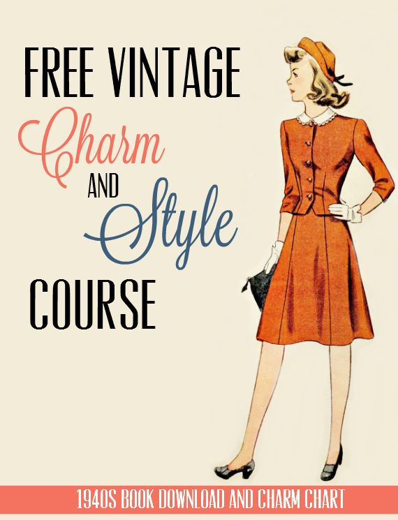 Free Download: 1941 Charm Chart Booklet from Clothes with Character