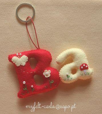 puffed letters in felt idea w/embellishments